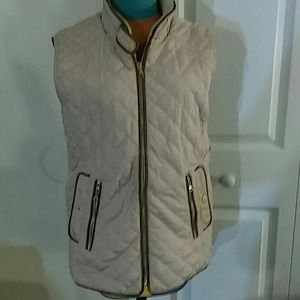 Tan quilted L FATE  vest